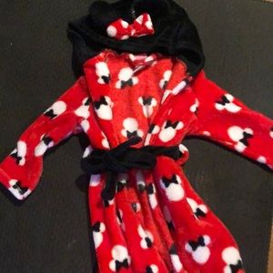 Toddler Minnie Mouse robe
